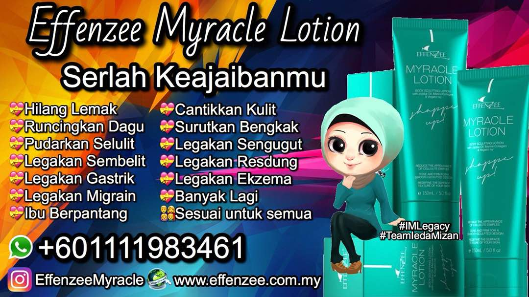 SLIMMING COLLAGEN LOTION|EFFENZEE MYRACLE|+601111983461