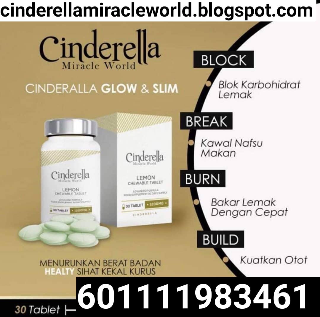 Cinderella glow and slim  produk putih selamat 601111983461