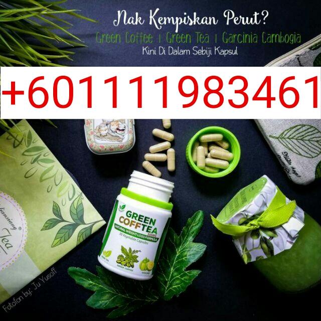 pil kurus cepat dan selamat Green Coffee Tea +601111983461