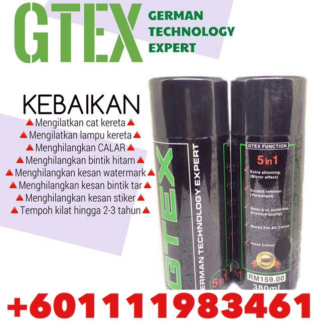 Spray kilat kereta seperti baru Gtex Spray +601111983461